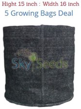 "Grow Bags Fabric ""15x16 ""  5 Bags Deal"