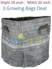 "Grow Bags Fabric ""16x21""  3 Bags Deal"