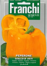 Franchi Seeds Sweet Pepper Peperone Giallo d'Asti seed
