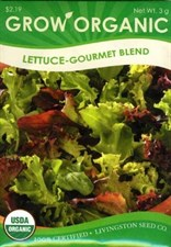 Lettuce - Organic Gourmet Blend  Livingston Seed Co.